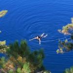 Ontario - baignade dans le lac Topaze