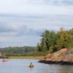 Ontario - kayak dans la baie Finn