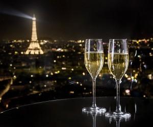 Champagne  au Windo bar du Hyatt Etoile - photo DR